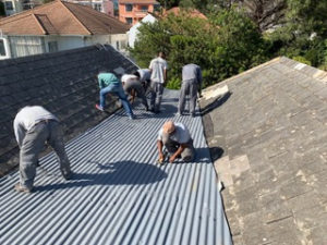 roof, replacement, corrugated, iron, dysfunctional, master,crafts, men, atlantic, seaboard, roofing, leaking, box, gutters, sheets, heat bonded, membrane, bitumous, aluminium, oranjezicht